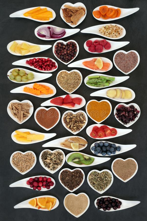 Superfood Nutrition for a Healthy Heart stock photos