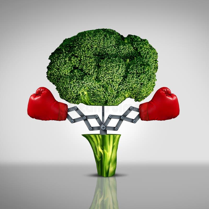 Superfood ochrona ilustracja wektor