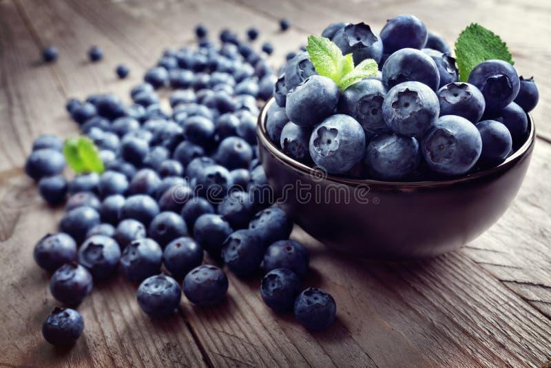 Superfood organico antiossidante del mirtillo fotografia stock libera da diritti