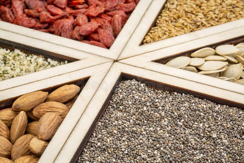 Superfood tacy abstrakt zdjęcie stock
