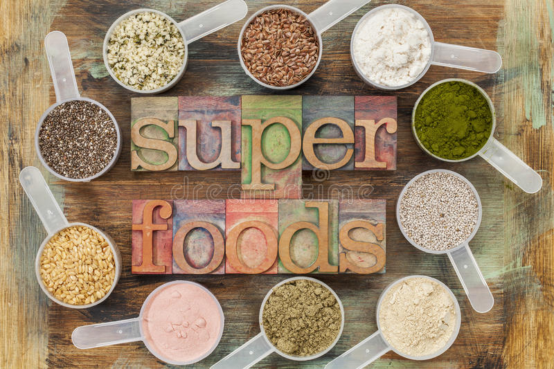 Superfoods fotografia stock