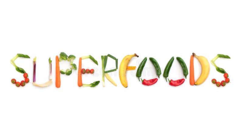 Superfoods image libre de droits