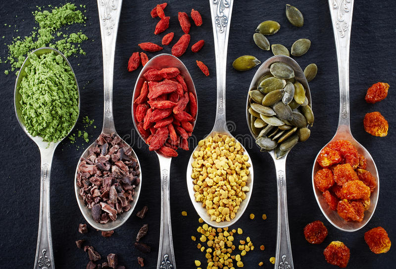 Superfoods immagine stock