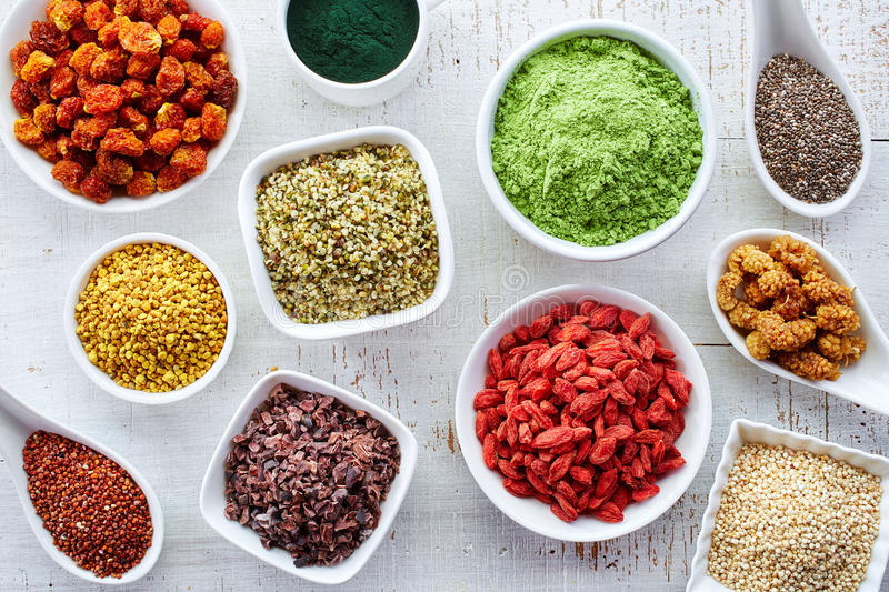 Superfoods obrazy royalty free