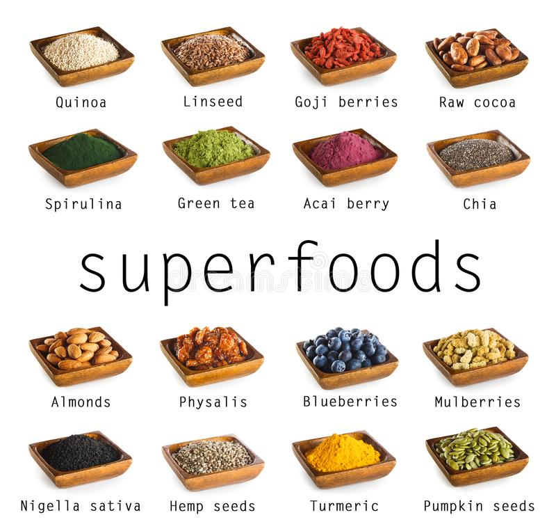 Superfoods-Sammlung stockfoto