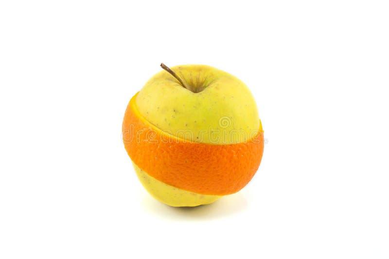 Superfruit - appel en oranje combinatie royalty-vrije stock fotografie