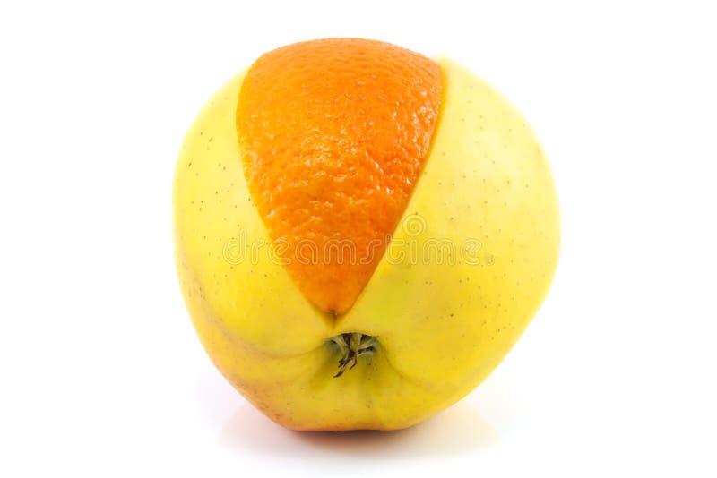 Superfruit - appel en sinaasappel stock foto's