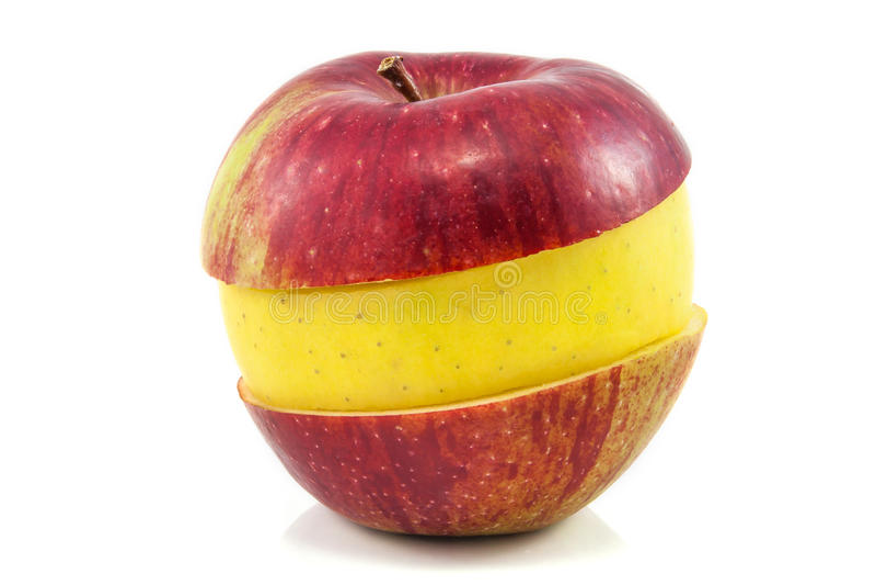 Superfruit - rode en gele appel royalty-vrije stock afbeeldingen