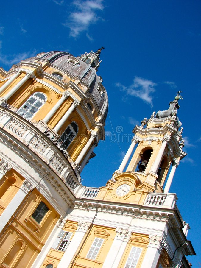 Superga basilica in Turin, Italy royalty free stock image