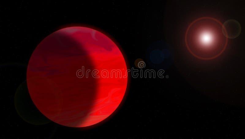 Supergigantesque rouge gazeux illustration libre de droits