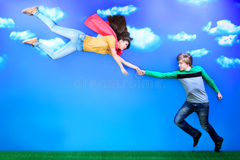 Supergirl royalty free stock photos