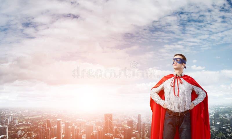 Superhéroe confiado imagen de archivo