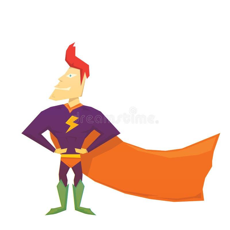 Superhéros comique drôle de vecteur illustration libre de droits