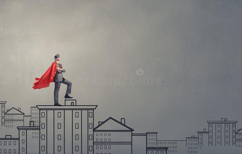 Superhéros courageux photographie stock