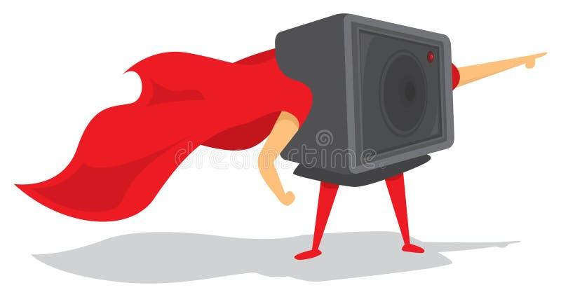 Superhéros de caméra d'action avec le cap illustration libre de droits