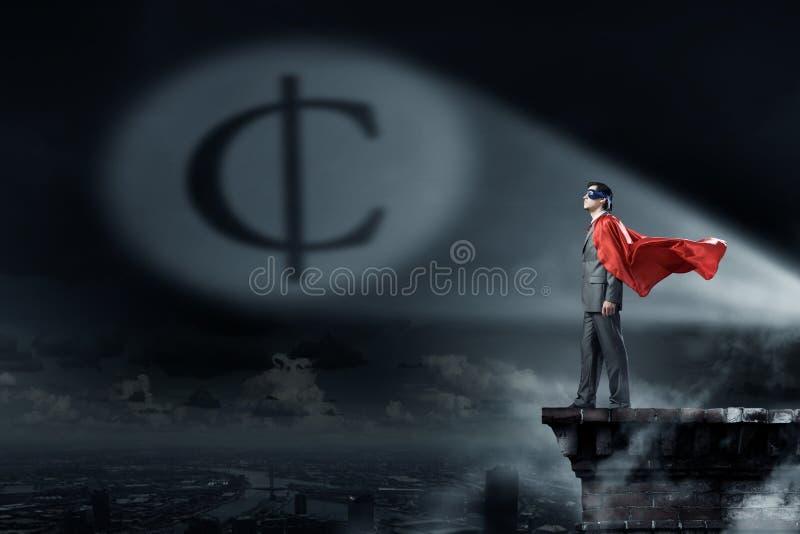 Superhéros profondément dans ses pensées photos libres de droits