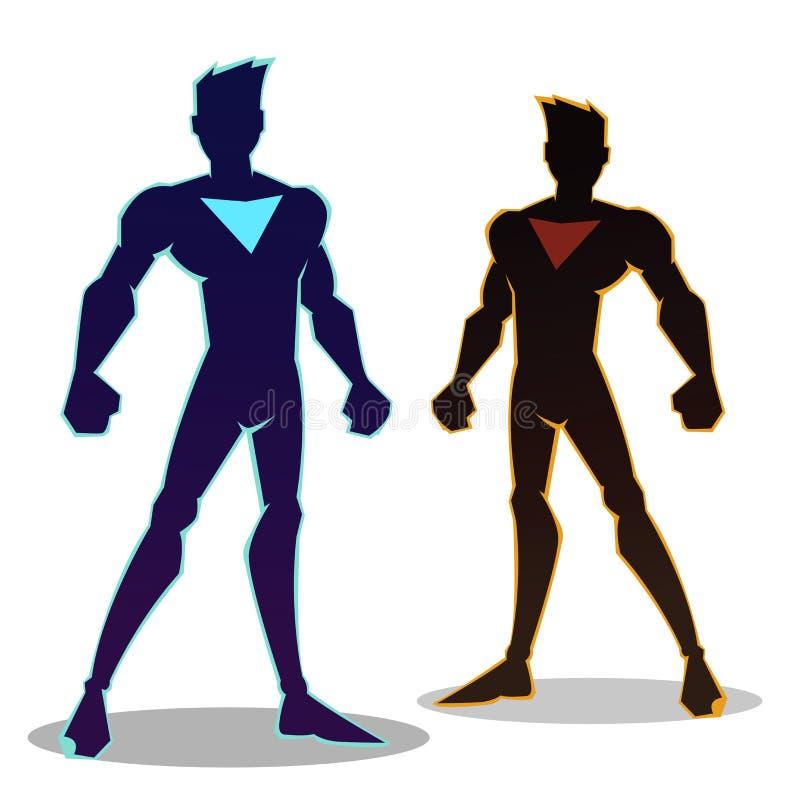 Superhéros Sillhouette illustration stock