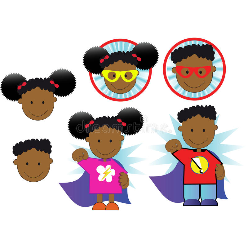 Superheld-Afroamerikaner stock abbildung