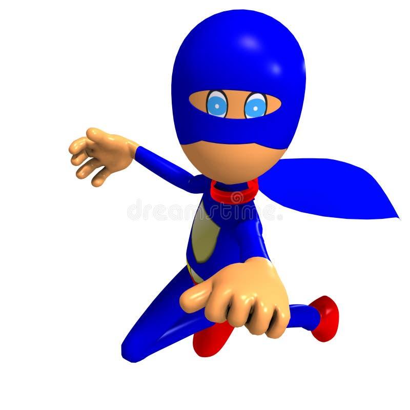 Superheld der lustigen Karikatur stock abbildung