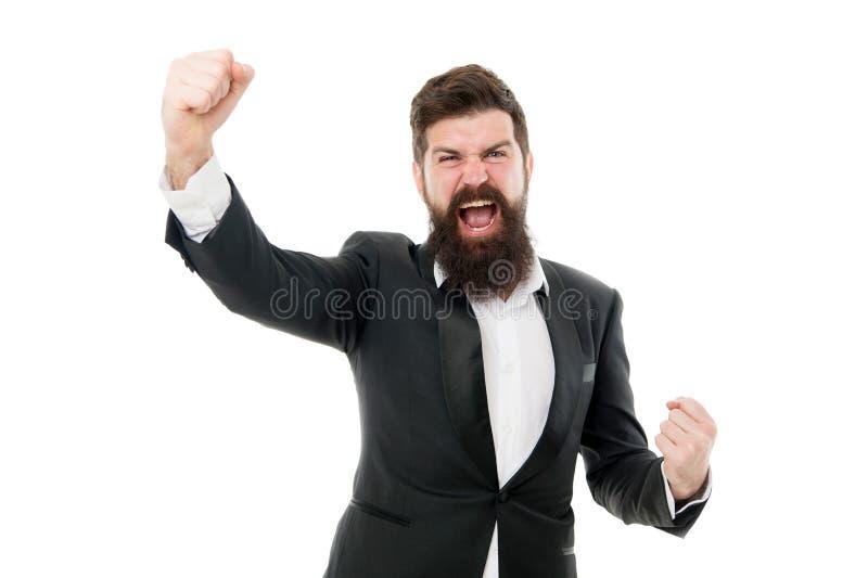 superheld Een knappe bebaarde zakenman draagt een formeel pak Vogelhaar en grooming Modemodel met lange baard royalty-vrije stock foto's