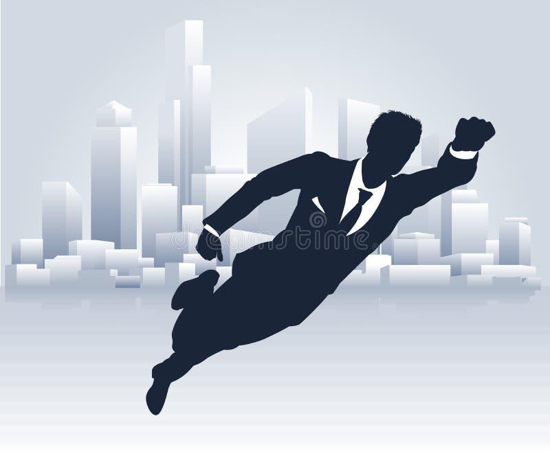 Superheld-Geschäftsmann vektor abbildung
