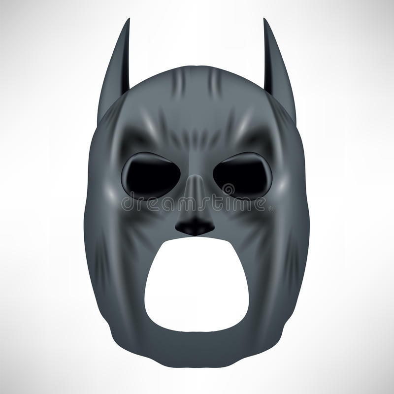 Superheld Grey Mask lizenzfreie abbildung