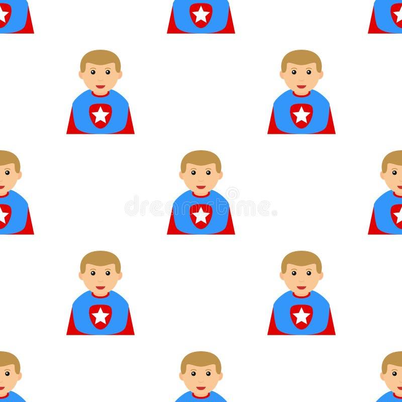 Superheld-Jungen-Avatara-nahtloses Muster stock abbildung