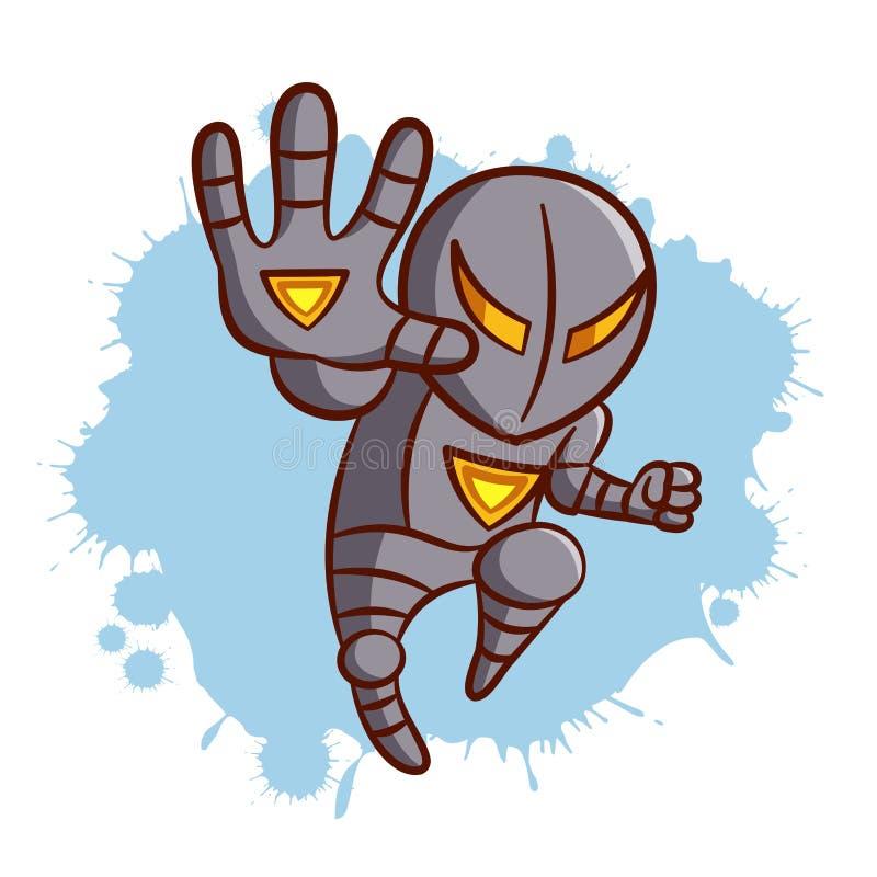 Superheld-Jungen-Eisen-Aufkleber stock abbildung