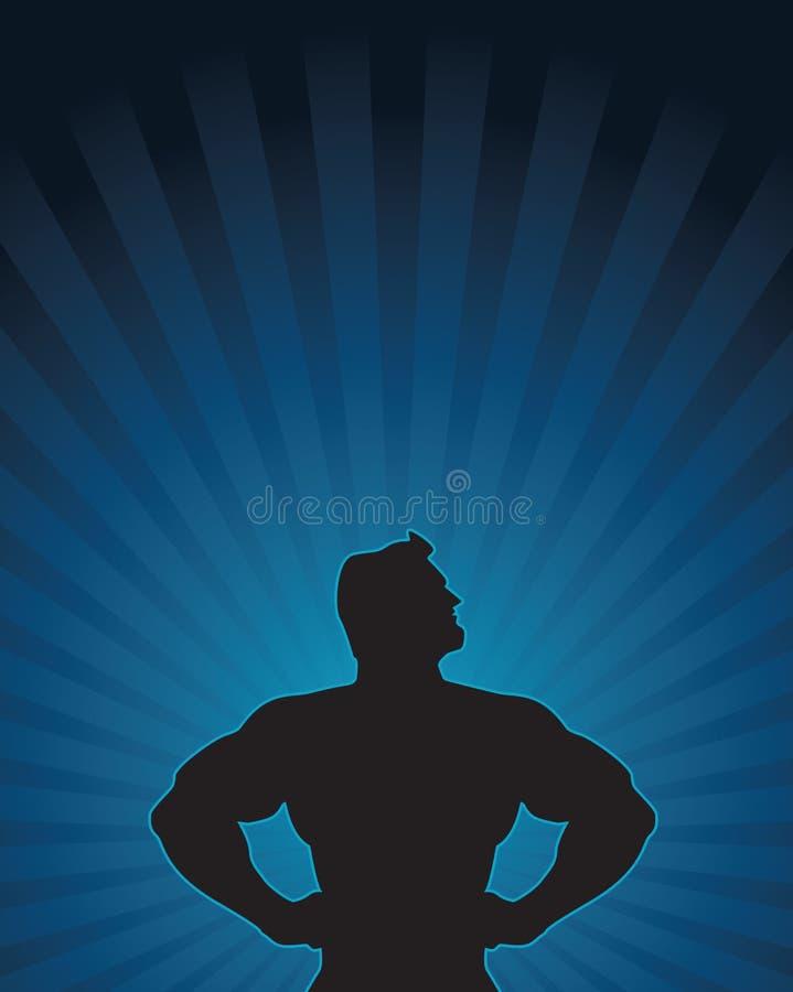 Superheld-Schattenbild lizenzfreie abbildung