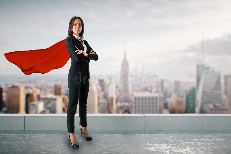 Superheld- und Lösungskonzept lizenzfreies stockfoto