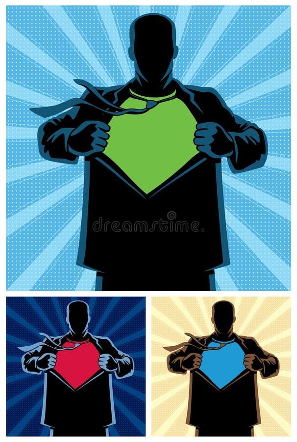 Superheld unter Abdeckung 2 lizenzfreie abbildung