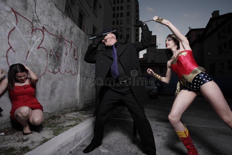 Superheld zur Rettung lizenzfreie stockfotos