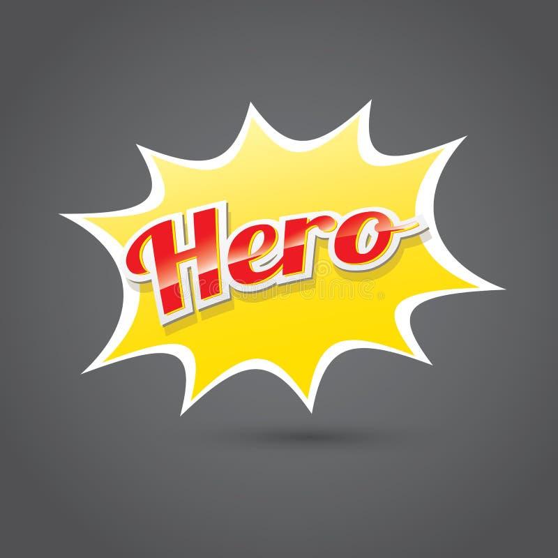 Superheldaufkleber oder -zeichen lizenzfreie abbildung