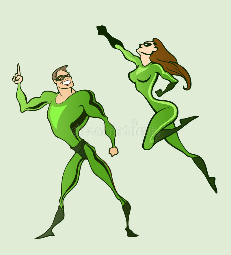 Superhelden lizenzfreie abbildung