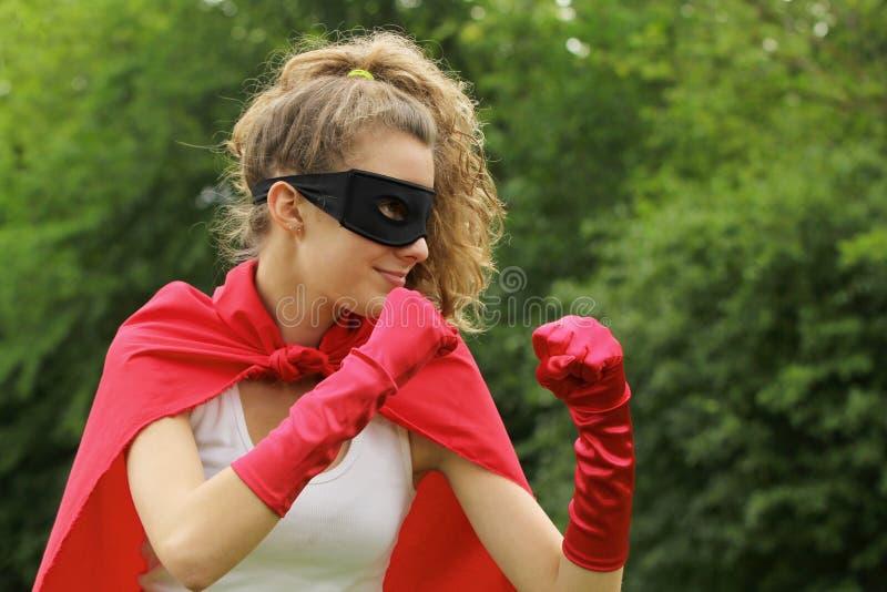 Superhelder betriebsbereit lizenzfreies stockfoto