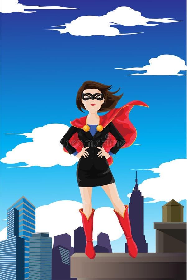 Superheldgeschäftsfrau stock abbildung
