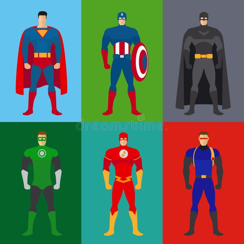 Superheldkostüme stock abbildung