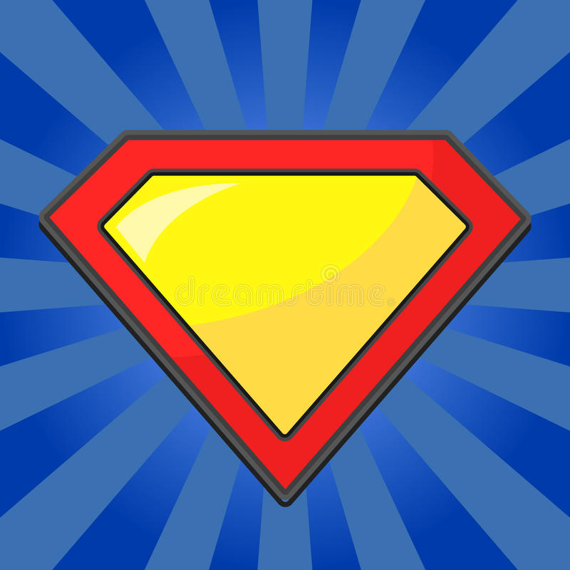 Superheldlogoschablone stock abbildung