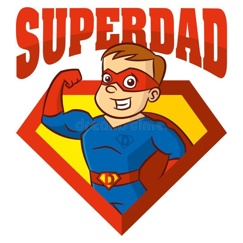 Superheldmann Zeichentrickfilm-Figur lizenzfreie abbildung