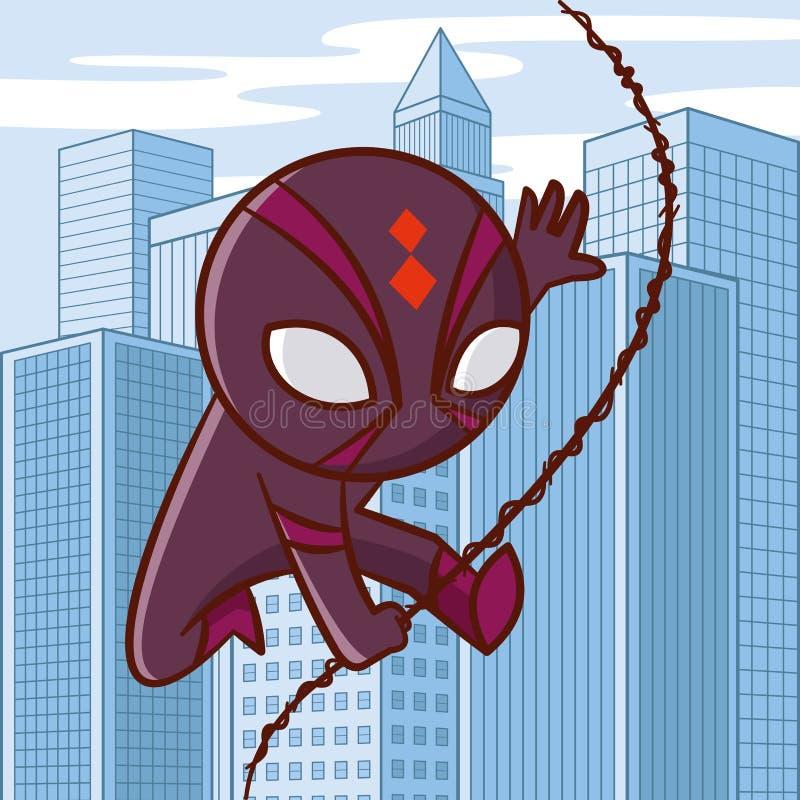 Superheldzeichentrickfilm-figur lizenzfreie abbildung