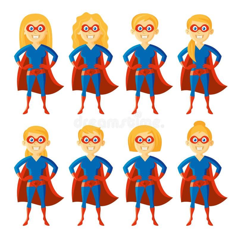 Superheldzeichentrickfilm-figur stock abbildung