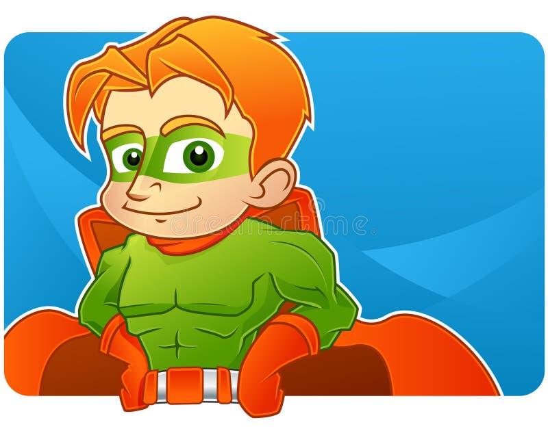 superhero εφηβικό διανυσματική απεικόνιση