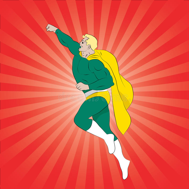 Superhero πετάγματος απεικόνιση αποθεμάτων