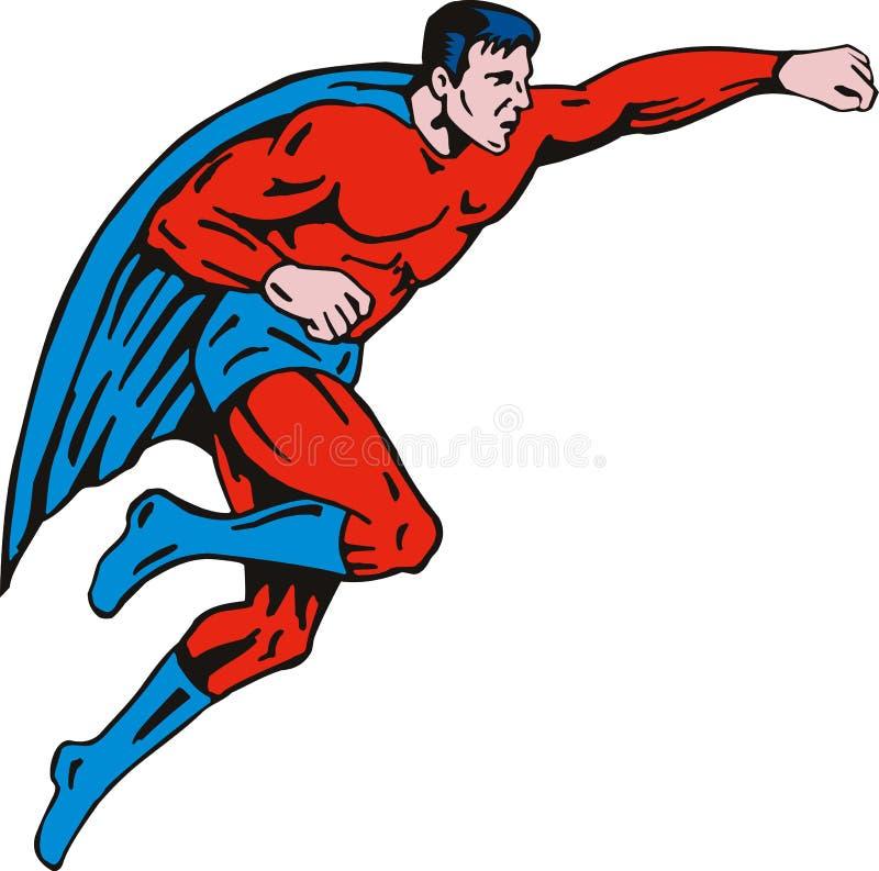 superhero πετάγματος ελεύθερη απεικόνιση δικαιώματος