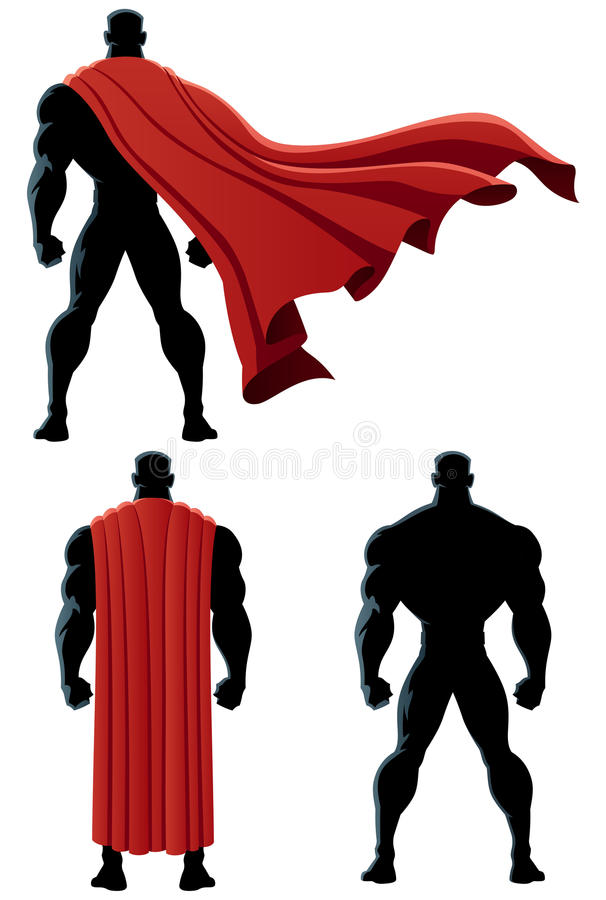 Superhero που απομονώνεται πίσω ελεύθερη απεικόνιση δικαιώματος