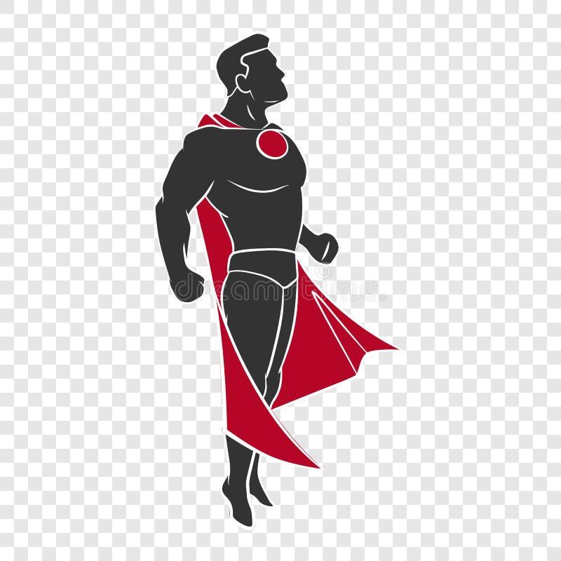Superhero που πετά επάνω διανυσματική απεικόνιση