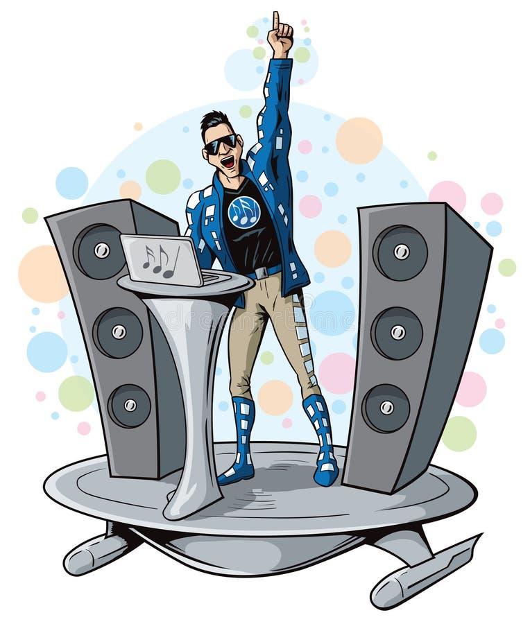 Superhero του DJ ελεύθερη απεικόνιση δικαιώματος