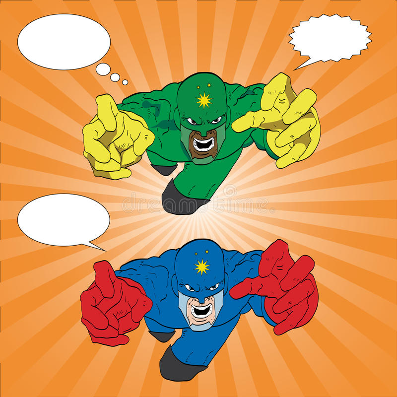 Superhero 10 royalty-vrije illustratie