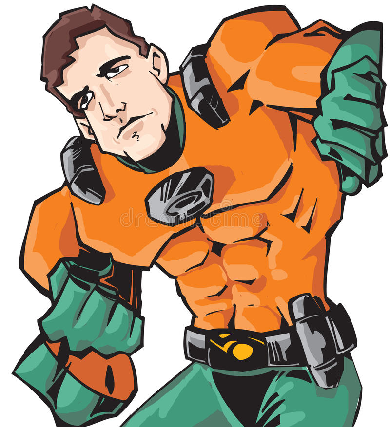 superhero stock illustrationer