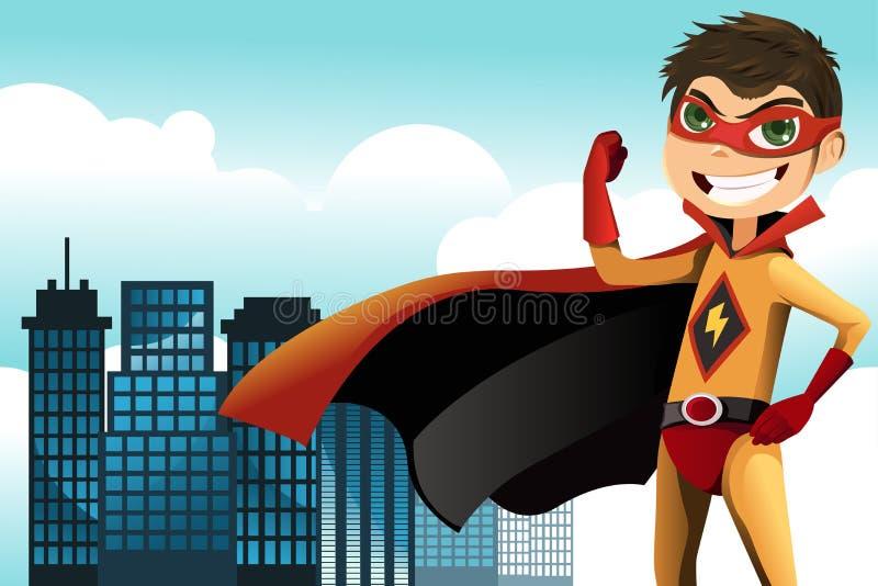 Superhero illustration de vecteur